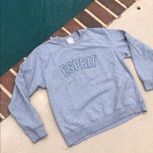 Esprit gray long sleeve sweatshirt casual wear